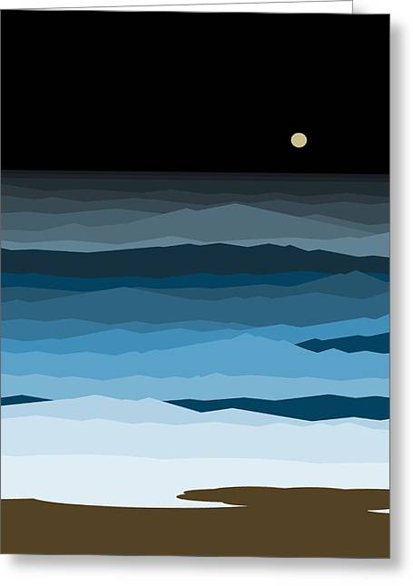 Seascape - Night Greeting Card