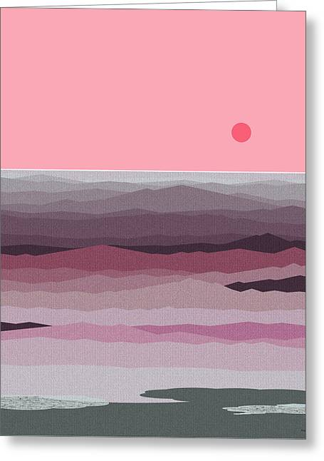 Seascape Pinks Greeting Card