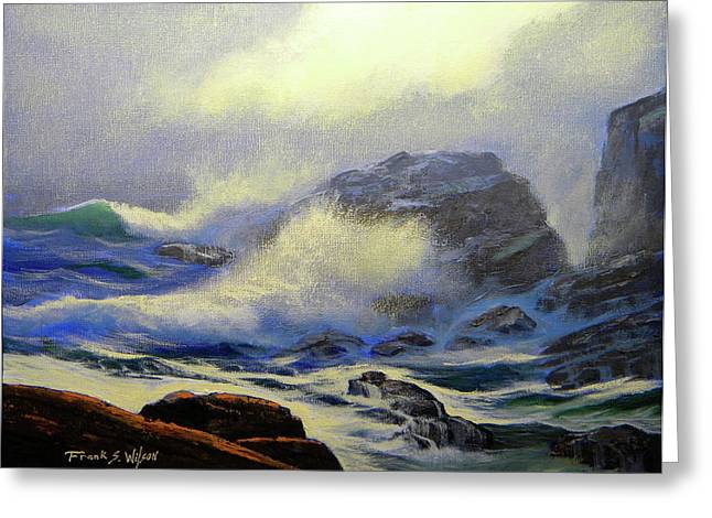 Seascape Study 8 Greeting Card by Frank Wilson