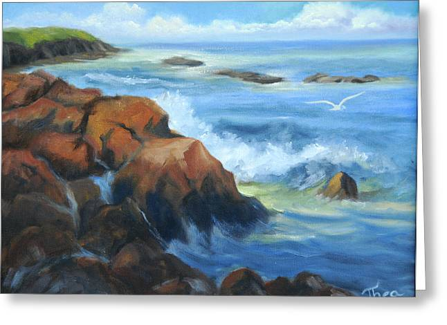 Seascape Greeting Card by Thea Wolff