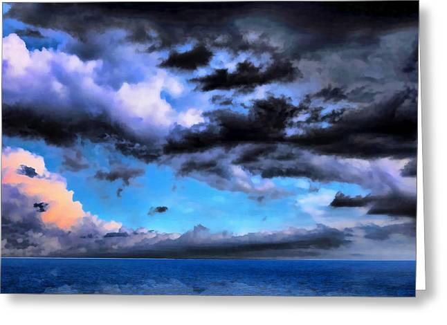 Seascape Greeting Card by Theresa Campbell