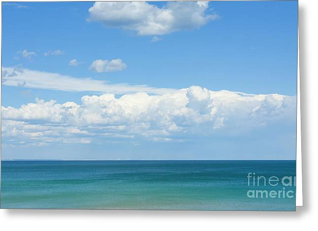Seascape With Clouds Greeting Card