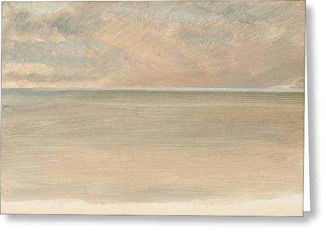 Seascape With Icecap In The Distance Greeting Card