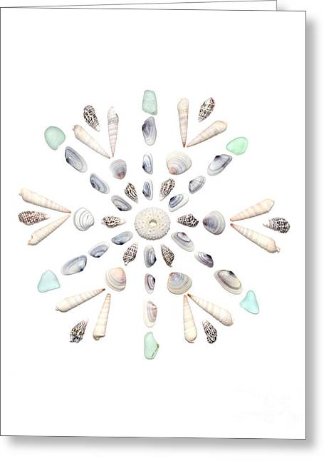 Seashell Snowflake 2 Greeting Card by Jennifer Booher