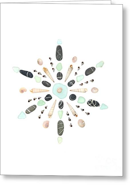 Seashell Snowflake 5 Greeting Card by Jennifer Booher