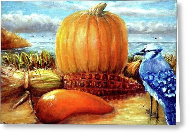 Seashore Pumpkin  Greeting Card