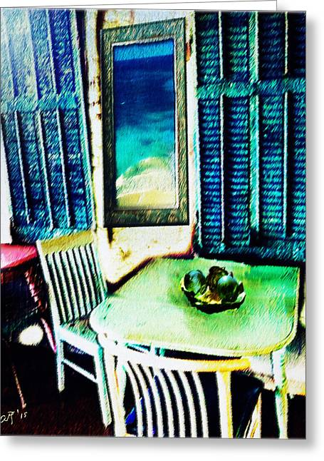 Seaside Cafe Greeting Card