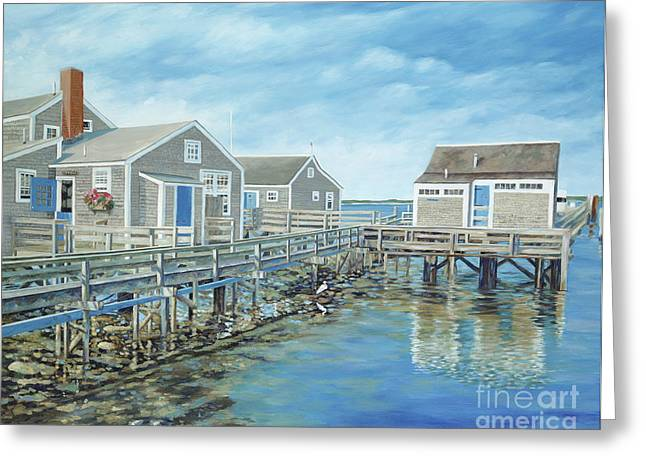 Danielle Perry Paintings Greeting Cards - Seaside Cottages Greeting Card by Danielle  Perry