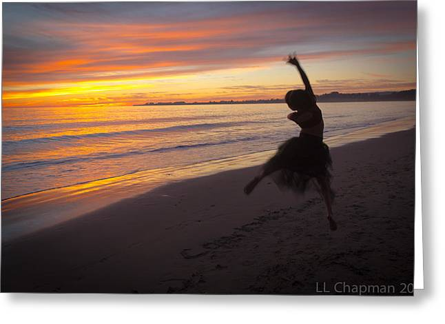 Seaside Dancer Greeting Card