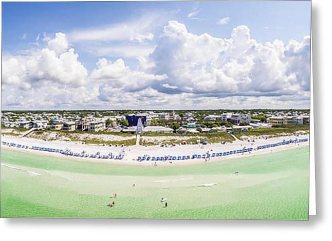 Seaside Florida Gulf Aerial Greeting Card