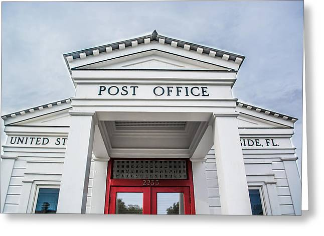 Seaside Florida Post Office Greeting Card by Shelby  Young