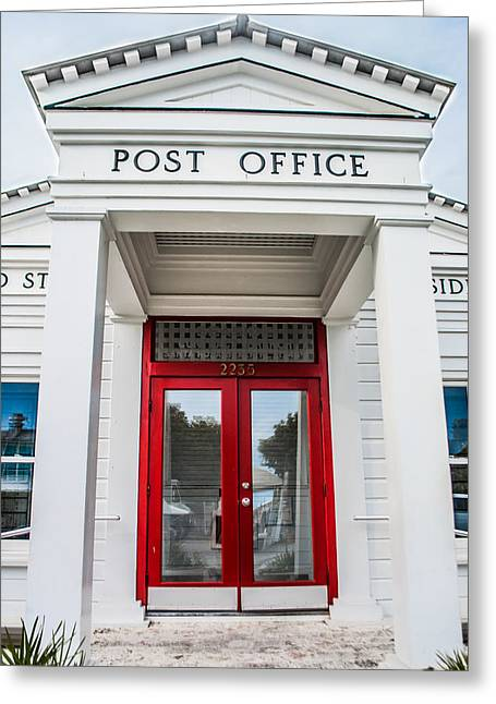 Seaside Florida Post Office Vertical Greeting Card by Shelby  Young