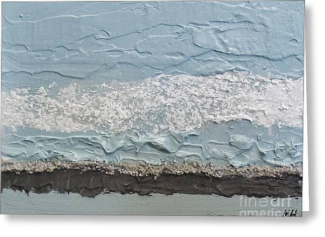 Seaside Foam Greeting Card by Marsha Heiken
