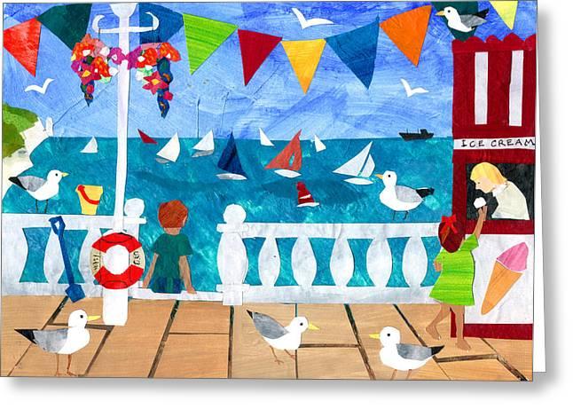 Seaside Greeting Card by Judy Adamson
