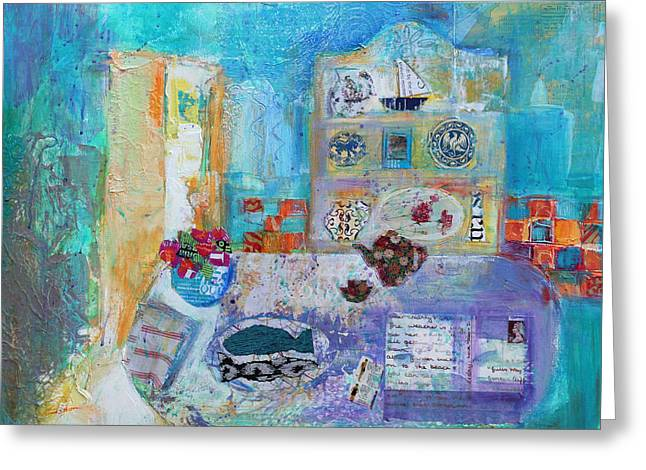 Seaside Kitchen Greeting Card by Sylvia Paul