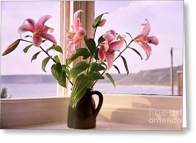 Seaside Lilies Greeting Card