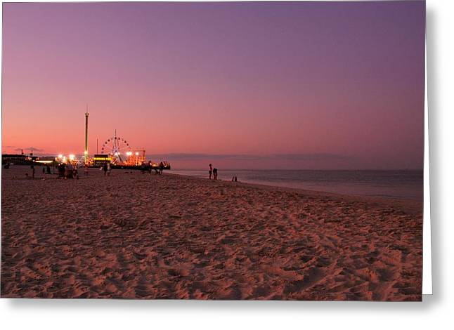 Sunset Posters Greeting Cards - Seaside Park I - Jersey Shore Greeting Card by Angie Tirado