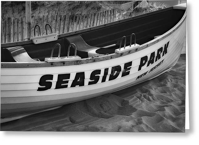 Seaside Park New Jersey Bw Greeting Card