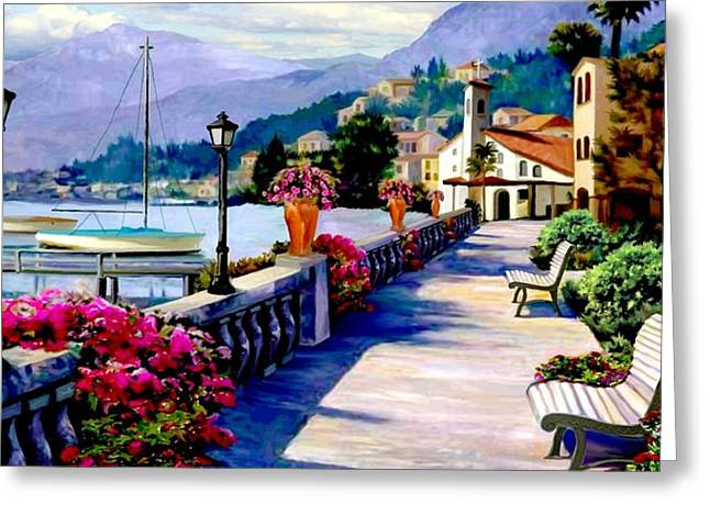 Seaside Pathway 2 Greeting Card by Ron Chambers