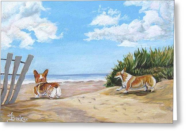 Seaside Romp Greeting Card by Ann Becker
