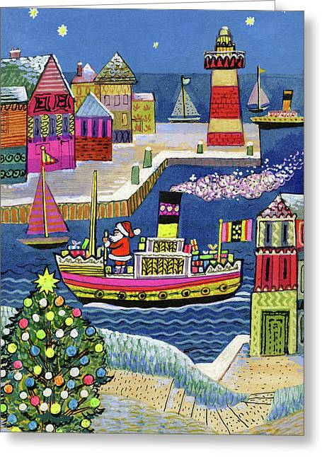Seaside Santa Greeting Card