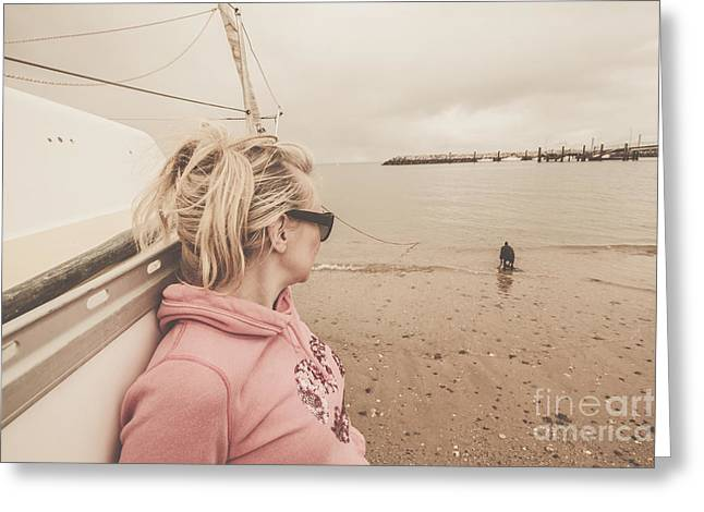 Seaside Stopover Greeting Card by Jorgo Photography - Wall Art Gallery