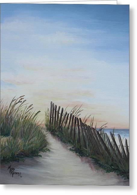 Seaside Sunrise Greeting Card by Mary Rogers