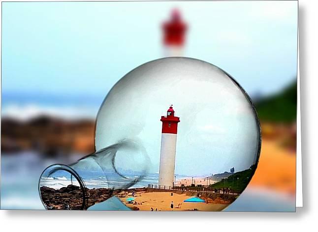 Seaside Greeting Card by Vijay Sharon Govender