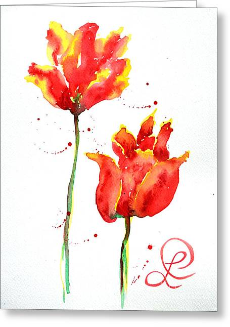 Season's First Tulips Greeting Card