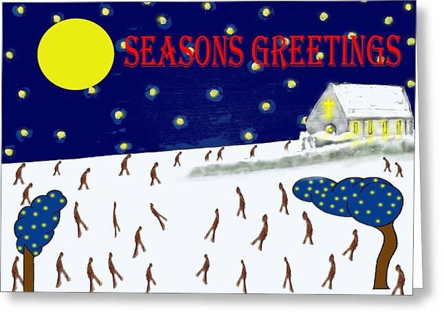 Seasons Greetings 80 Greeting Card by Patrick J Murphy