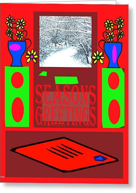 Seasons Greetings 97 Greeting Card by Patrick J Murphy