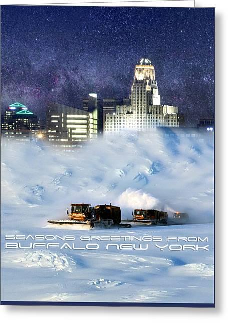 Seasons Greetings From Buffalo Greeting Card