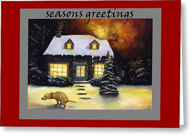 Seasons Greetings Greeting Card by Leah Saulnier The Painting Maniac