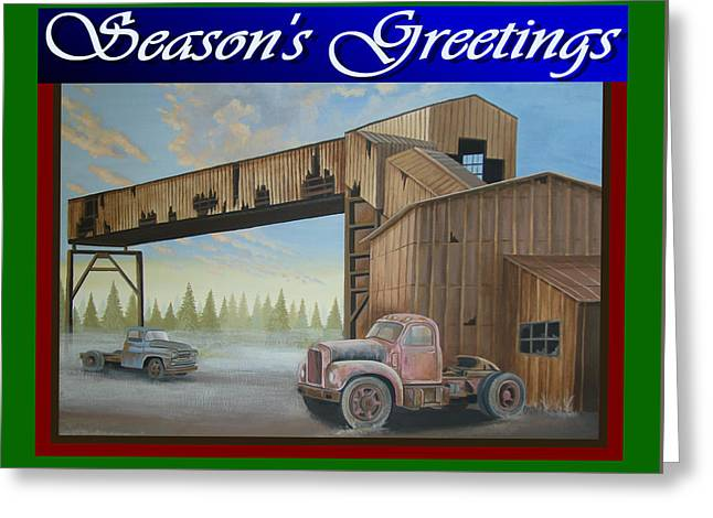Season's Greetings Old Mine Greeting Card by Stuart Swartz