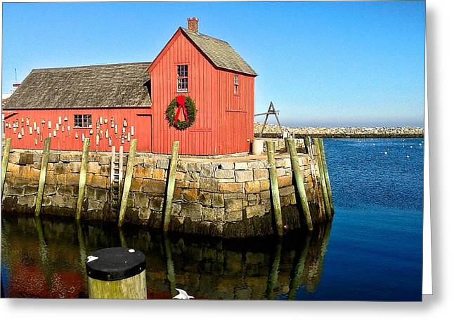 Season's Greetings Rockport Ma Greeting Card