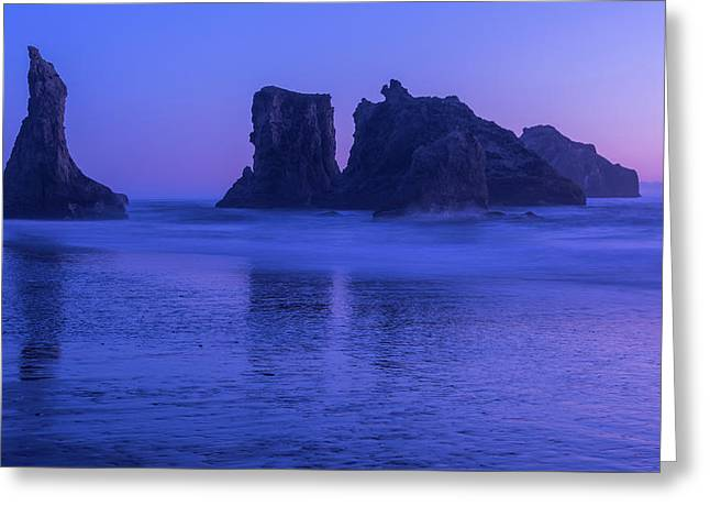 Seastack Sunset In Bandon Greeting Card