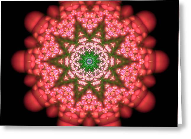 Seastar Lightmandala  Greeting Card by Robert Thalmeier