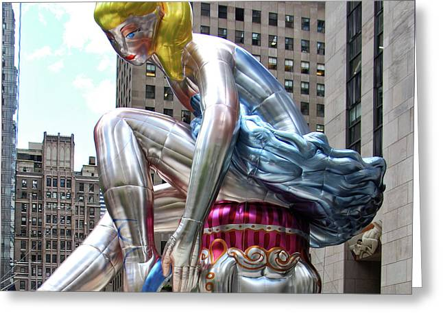 Seated Ballerina Rockefeller Plaza 4 Greeting Card by Nishanth Gopinathan
