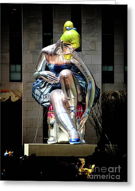 Seated Ballerina Rockefeller Plaza 5 Greeting Card by Nishanth Gopinathan