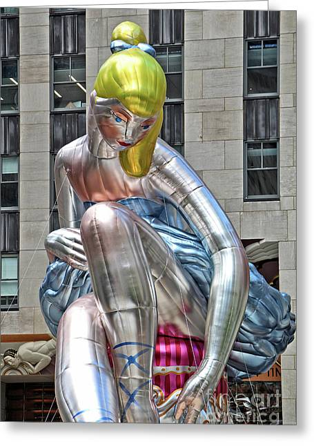 Seated Ballerina Rockefeller Plaza 6 Greeting Card by Nishanth Gopinathan
