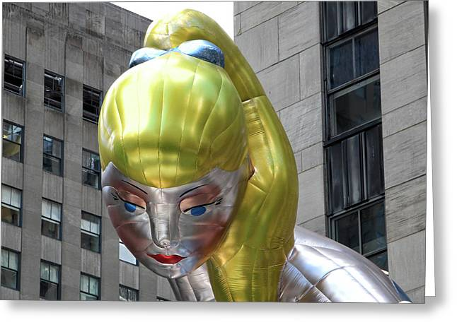 Seated Ballerina Rockefeller Plaza 7 Greeting Card by Nishanth Gopinathan