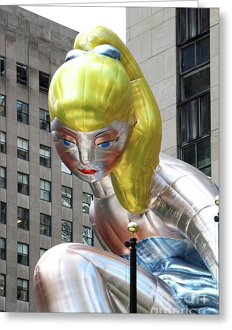 Seated Ballerina Rockefeller Plaza 8 Greeting Card by Nishanth Gopinathan