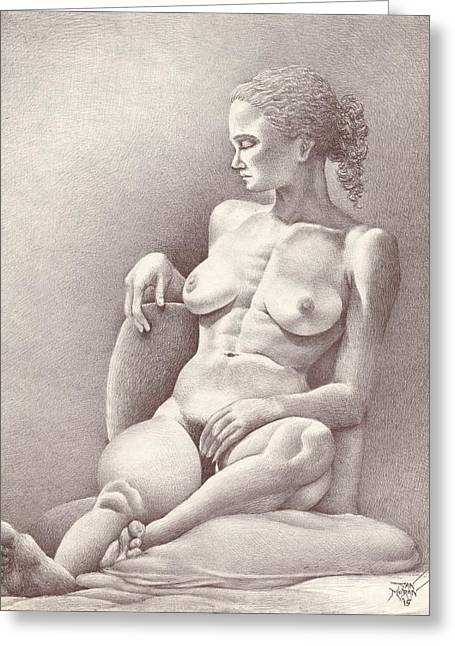 Seated Figure No. 6 Greeting Card