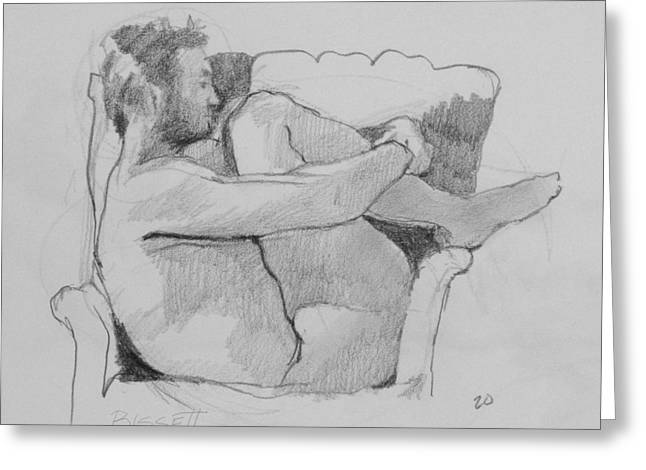 Seated Nude 1 Greeting Card by Robert Bissett