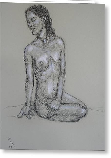 Seated Nude 6 Greeting Card by Donelli  DiMaria