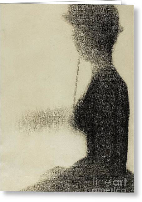 Seated Woman With A Parasol  Greeting Card by Georges Pierre Seurat