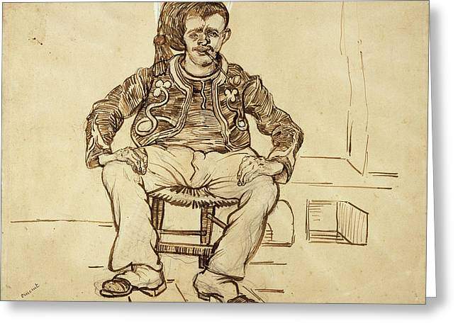 Seated Zouave, 1888 02 Greeting Card by Vincent Van Gogh