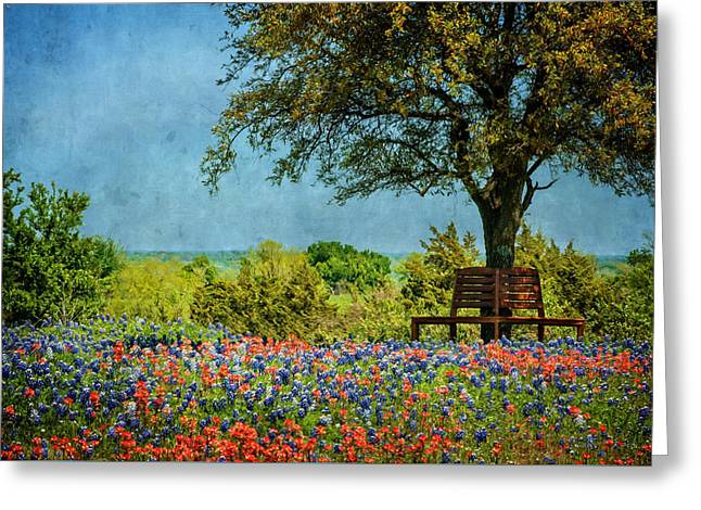 Greeting Card featuring the photograph Seating For Two by Ken Smith