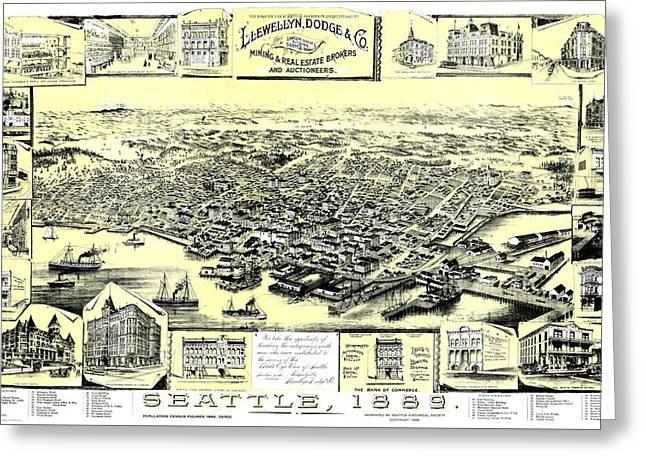 Seattle 1889 Greeting Card
