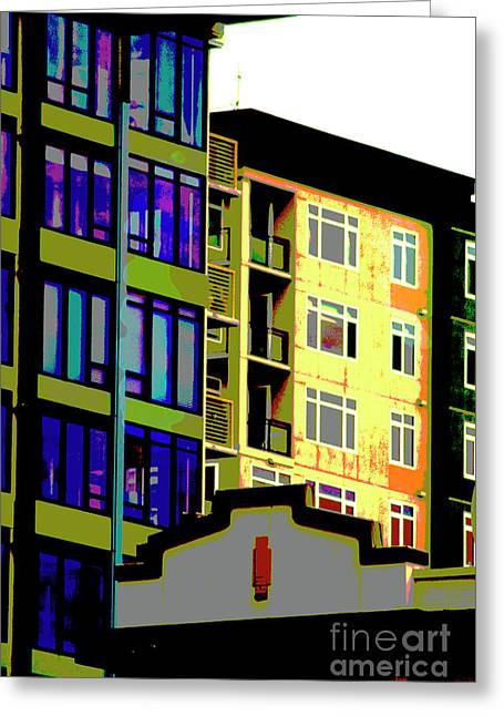 Greeting Card featuring the photograph Seattle Architecture by Yulia Kazansky